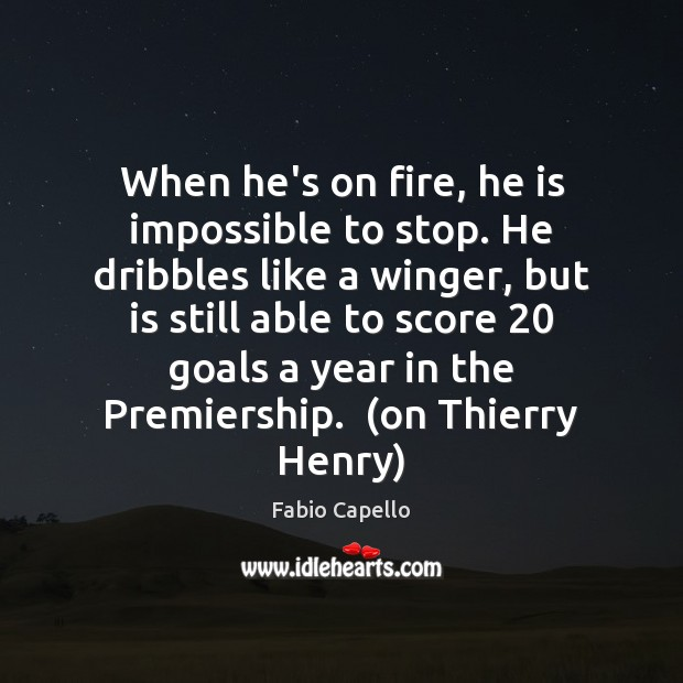 When he's on fire, he is impossible to stop. He dribbles like Image
