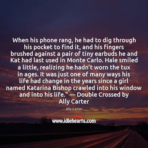 When his phone rang, he had to dig through his pocket to Image