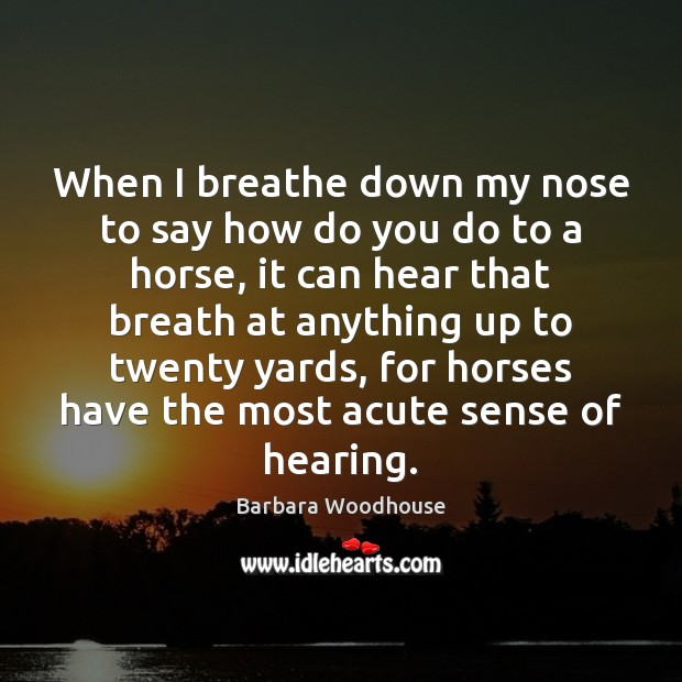 Image, When I breathe down my nose to say how do you do