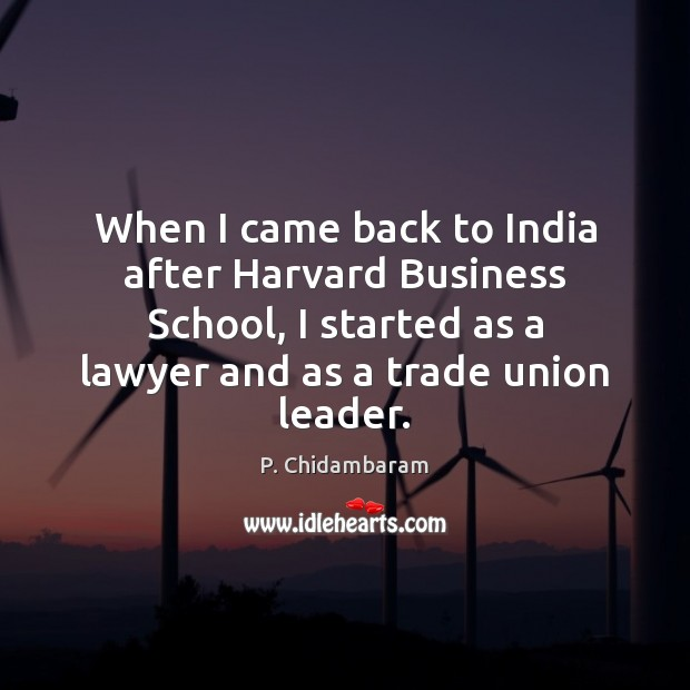 When I came back to India after Harvard Business School, I started Image