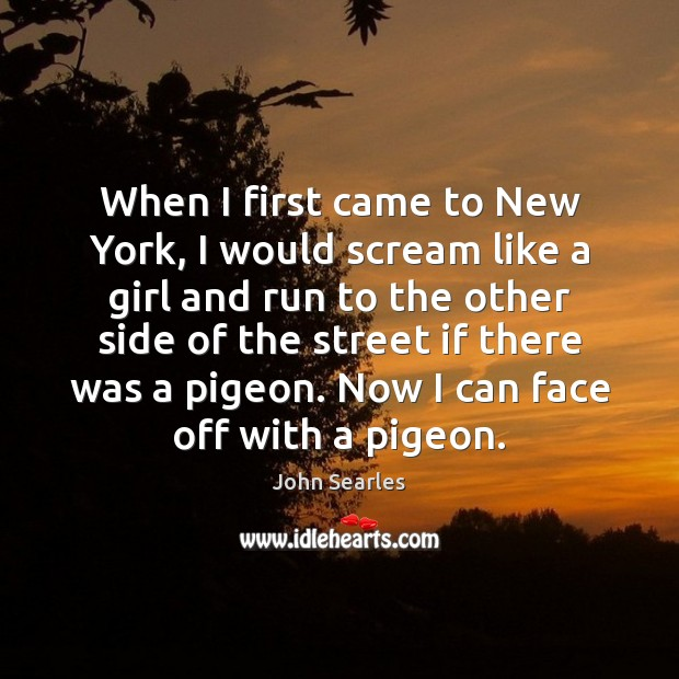 When I first came to New York, I would scream like a Image