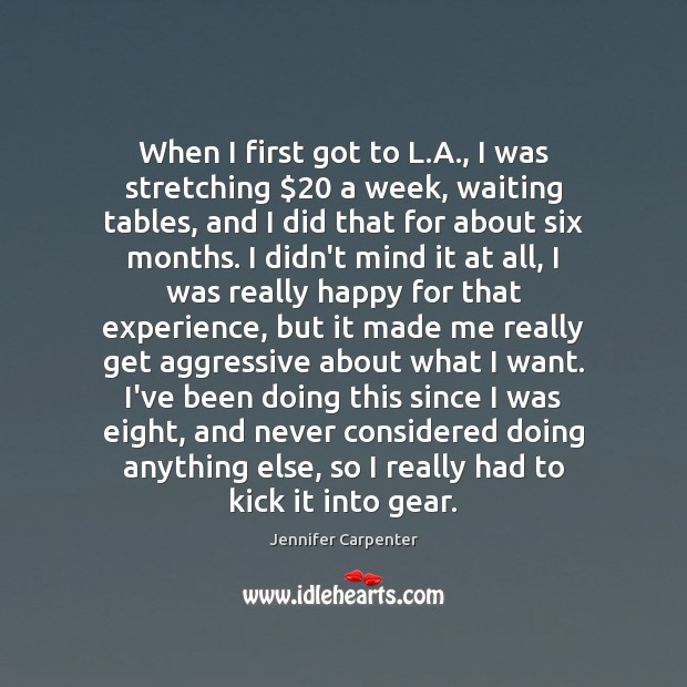 When I first got to L.A., I was stretching $20 a week, Image