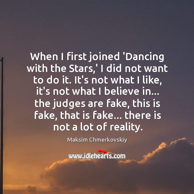 When I first joined 'Dancing with the Stars,' I did not Image