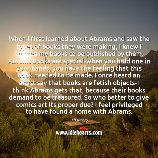 When I first learned about Abrams and saw the types of books Image