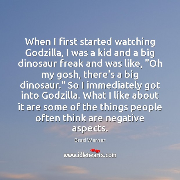 When I first started watching Godzilla, I was a kid and a Brad Warner Picture Quote
