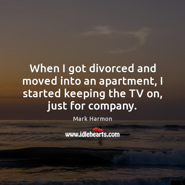 Image, When I got divorced and moved into an apartment, I started keeping