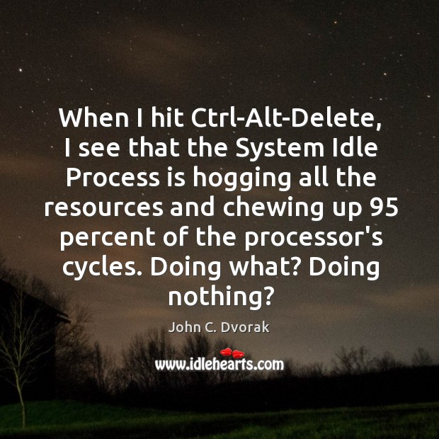 When I hit Ctrl-Alt-Delete, I see that the System Idle Process is Image