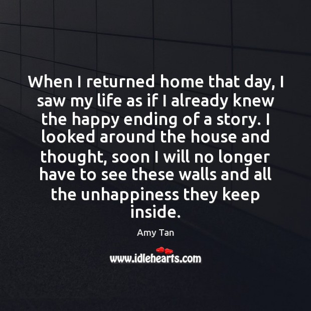 When I returned home that day, I saw my life as if Image