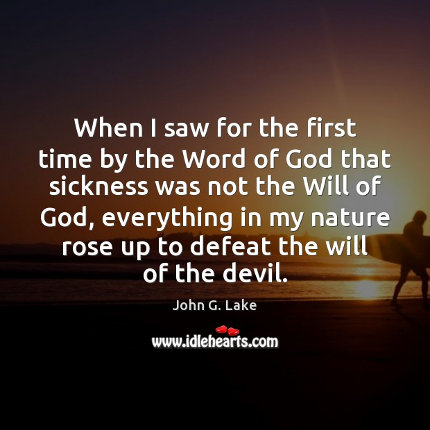 When I saw for the first time by the Word of God Image