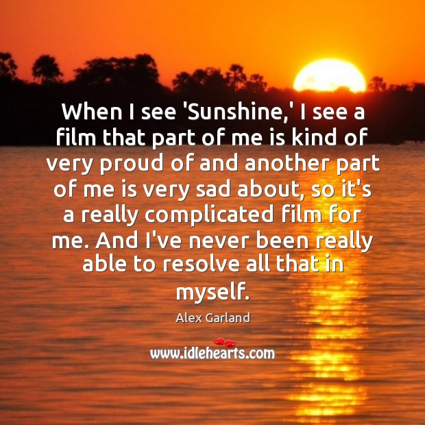 Image, When I see 'Sunshine,' I see a film that part of