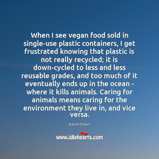 When I see vegan food sold in single-use plastic containers, I get Image