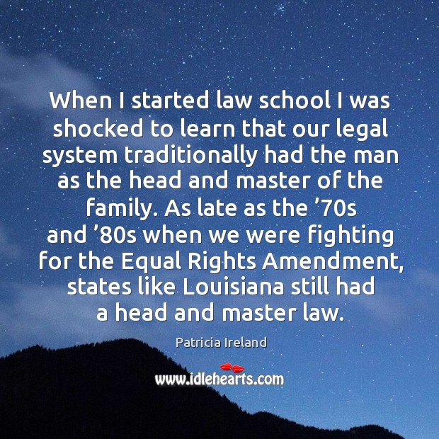 When I started law school I was shocked to learn that our legal system traditionally had the Image