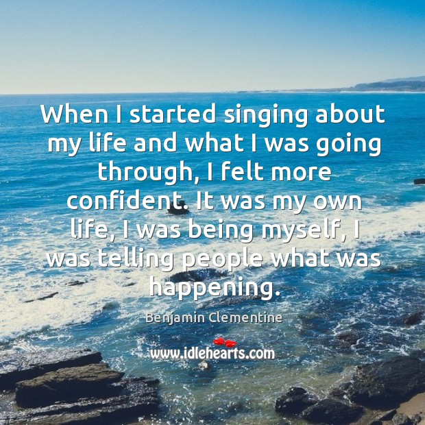 Image, When I started singing about my life and what I was going
