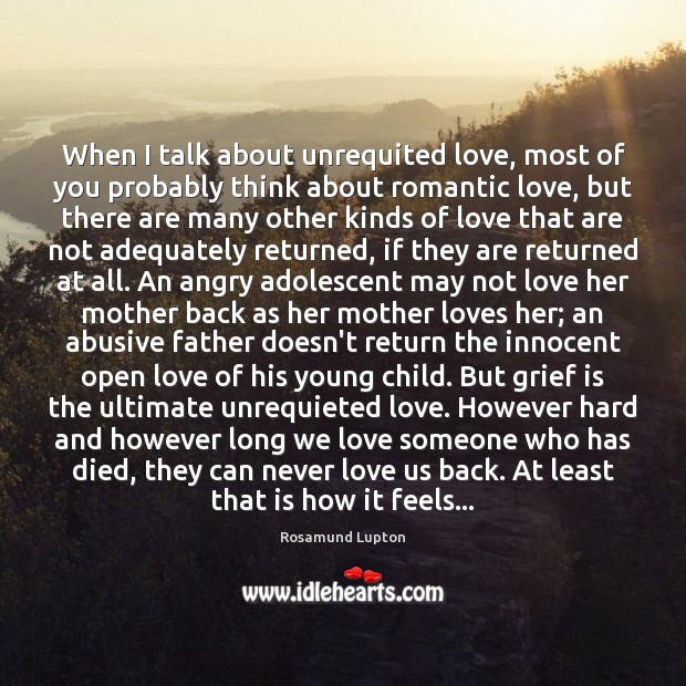 Image, When I talk about unrequited love, most of you probably think about