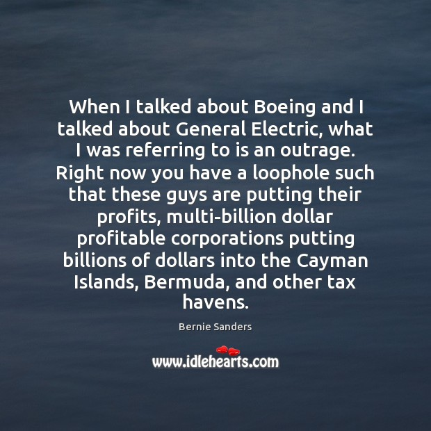 Image, When I talked about Boeing and I talked about General Electric, what