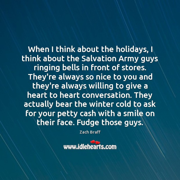 When I think about the holidays, I think about the Salvation Army Image