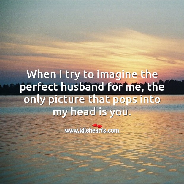 When I try to imagine the perfect husband for me, only you pop into my mind. Anniversary Messages Image
