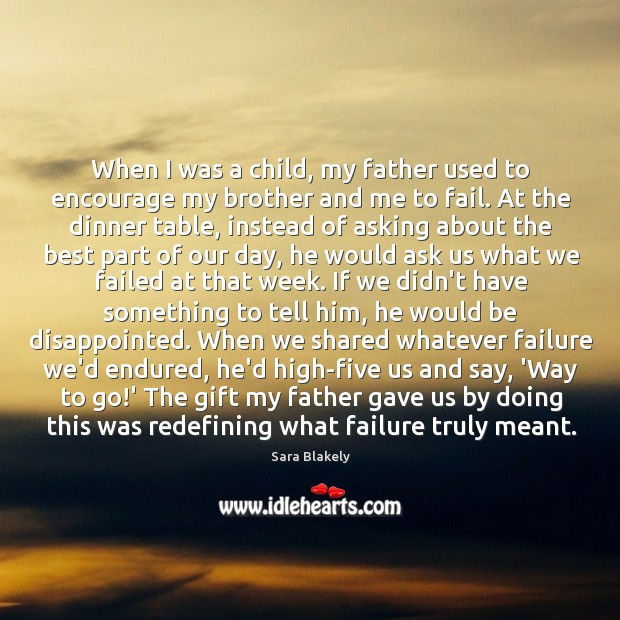 When I was a child, my father used to encourage my brother Image