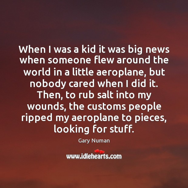 When I was a kid it was big news when someone flew Image