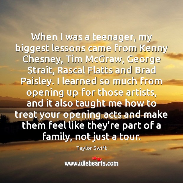 When I was a teenager, my biggest lessons came from Kenny Chesney, Image
