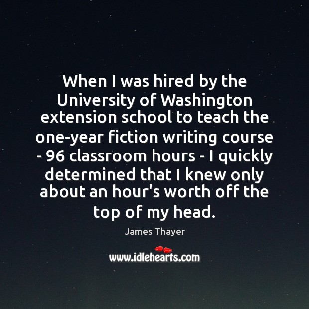 When I was hired by the University of Washington extension school to Image