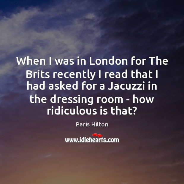 When I was in London for The Brits recently I read that Image