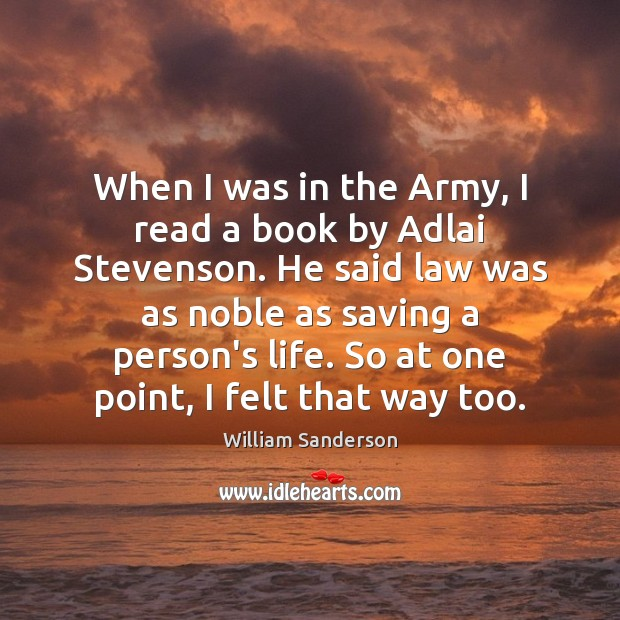Image, When I was in the Army, I read a book by Adlai