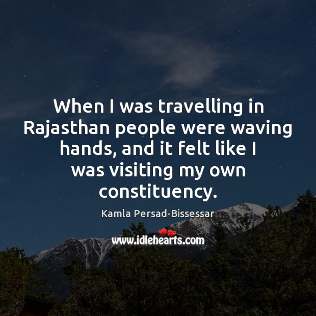 When I was travelling in Rajasthan people were waving hands, and it Image