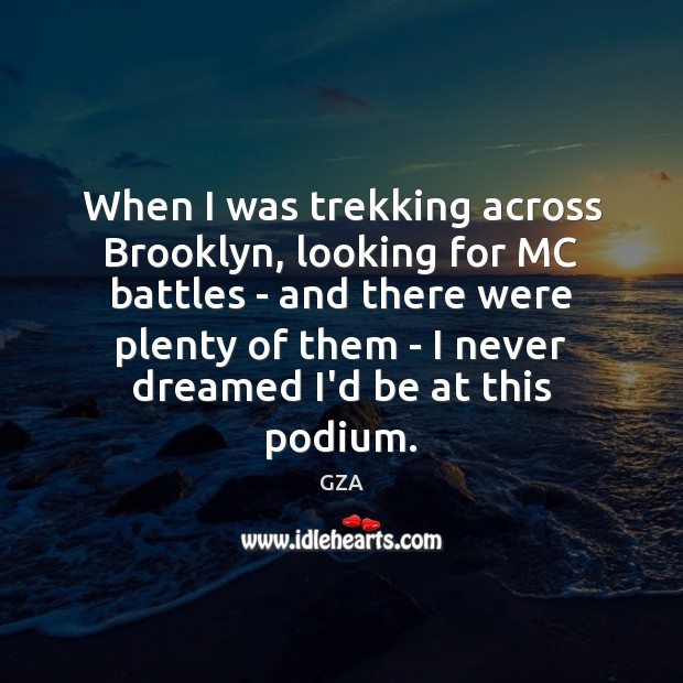 When I was trekking across Brooklyn, looking for MC battles – and Image