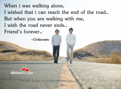 When I Was Walking Alone, I Wished That I Can…