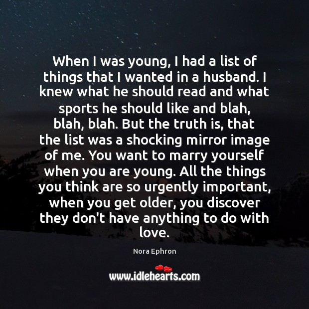 When I was young, I had a list of things that I Image