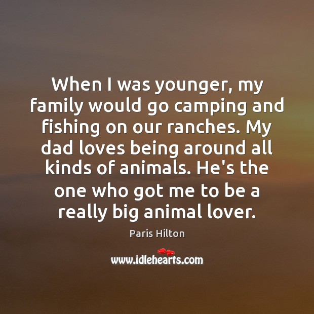 When I was younger, my family would go camping and fishing on Image