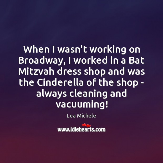 Image, When I wasn't working on Broadway, I worked in a Bat Mitzvah