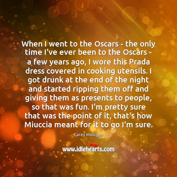Image, When I went to the Oscars – the only time I've ever