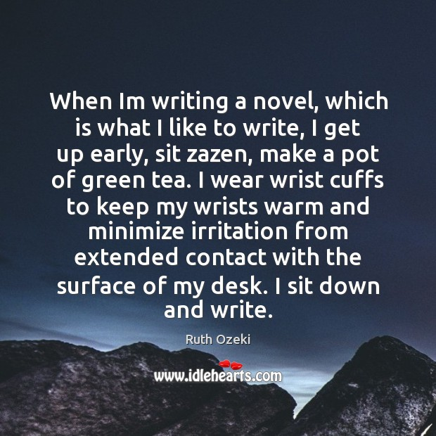 When Im writing a novel, which is what I like to write, Image