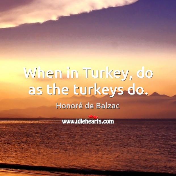 Image, When in Turkey, do as the turkeys do.