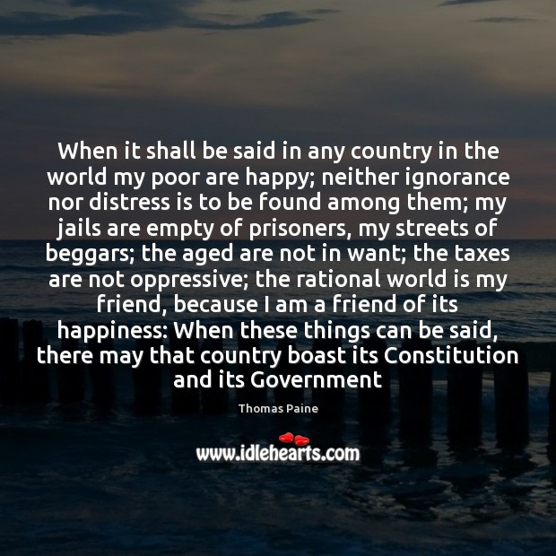 When it shall be said in any country in the world my Image
