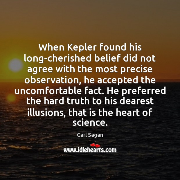 Image, When Kepler found his long-cherished belief did not agree with the most