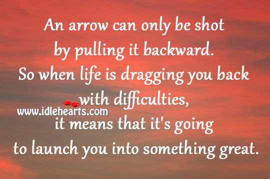 Life is dragging you back with difficulties Image