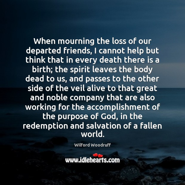 When mourning the loss of our departed friends, I cannot help but Image