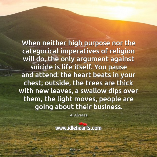 Image, When neither high purpose nor the categorical imperatives of religion will do,