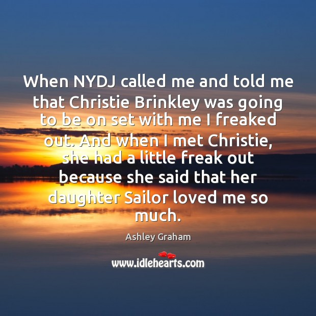 Image, When NYDJ called me and told me that Christie Brinkley was going