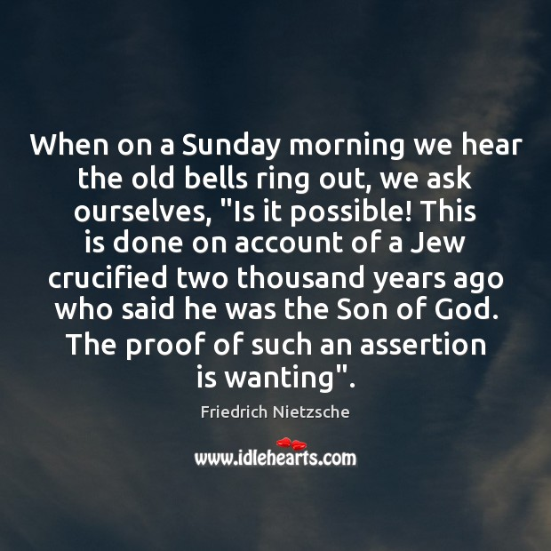 When on a Sunday morning we hear the old bells ring out, Image