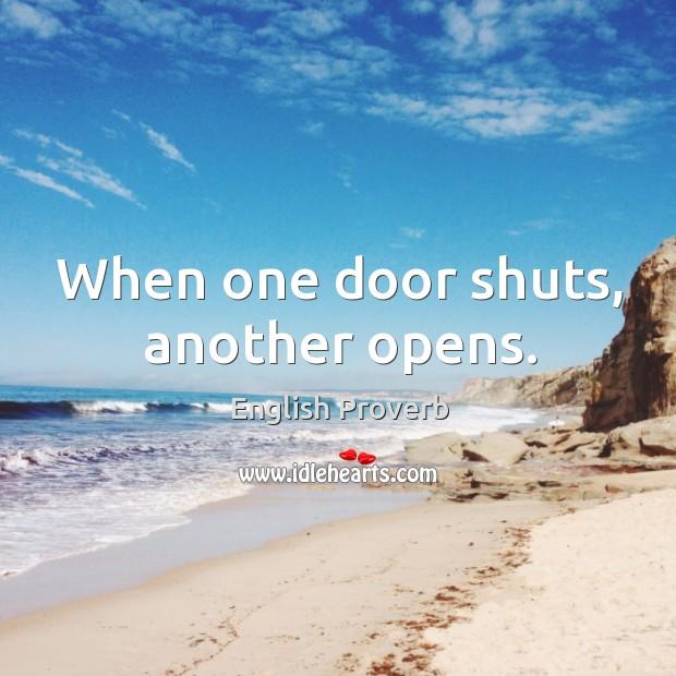 Image, When one door shuts, another opens.