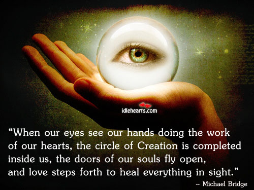When Our Eyes See Our Hands Doing The…