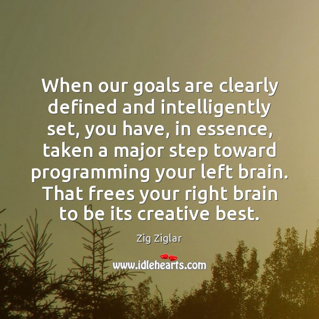 When our goals are clearly defined and intelligently set, you have, in Image