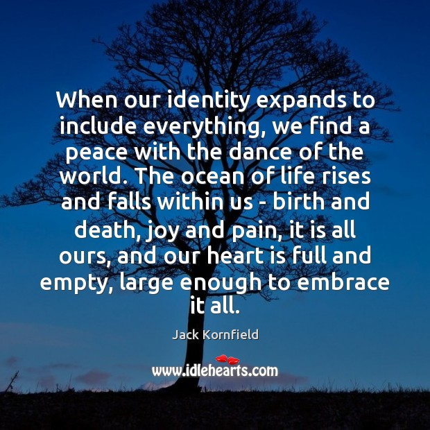 When our identity expands to include everything, we find a peace with Image