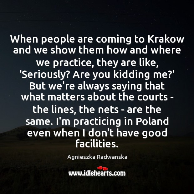 When people are coming to Krakow and we show them how and Image