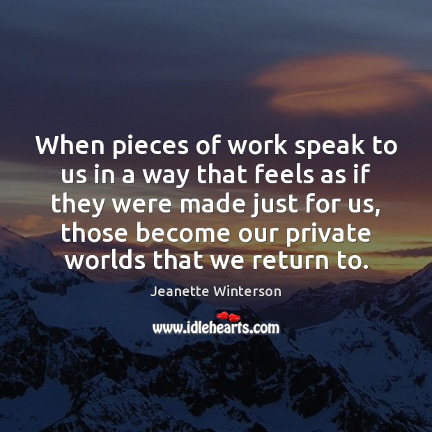 When pieces of work speak to us in a way that feels Image