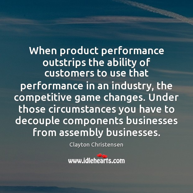 Image, When product performance outstrips the ability of customers to use that performance